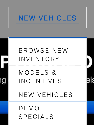 new vehicles inventory
